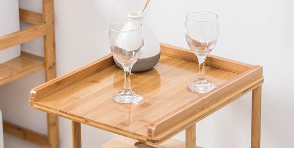 Bamboo side Table โต๊ะข้างวางของ