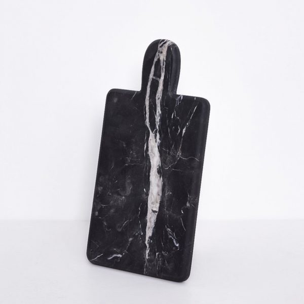 CHOPPING BOARD Black marquina Marble เขียงหินอ่อน หั่นผลไม้