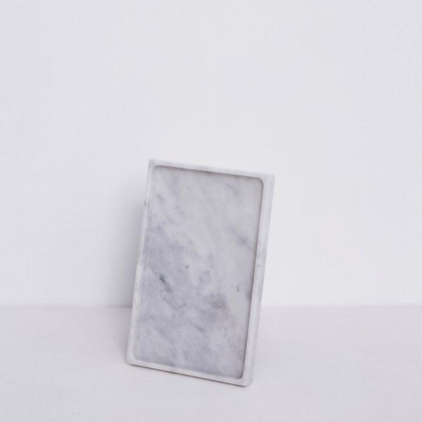 SQUARE TRAY White Carara Marble ถาดหินอ่อน