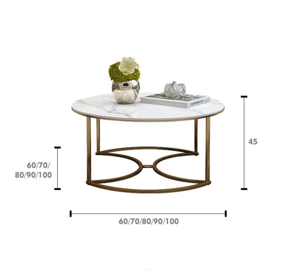 Triple Marble Coffee Table Set ชุดโต๊ะกลางท็อปหินอ่อน 3 ตัว 4