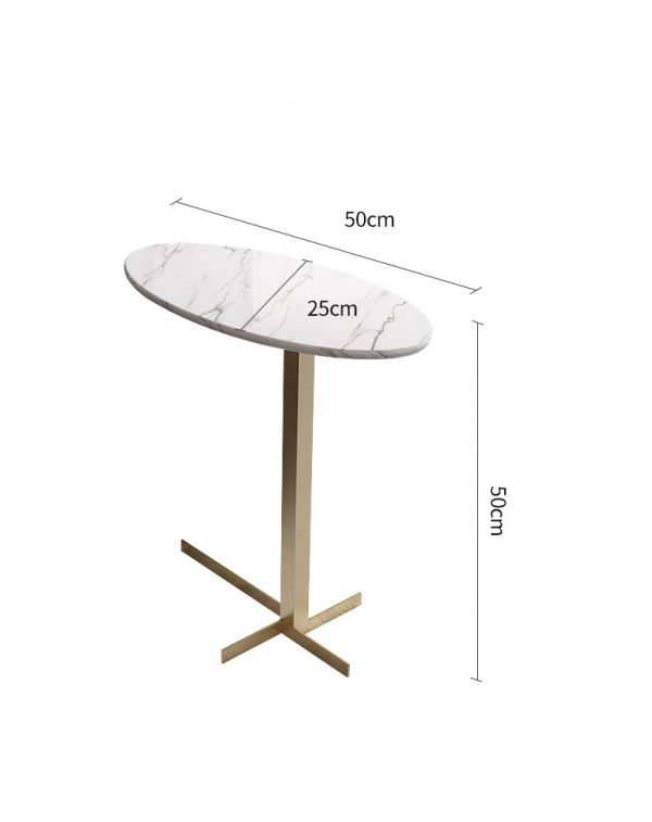 Premium Versatile Side Table โต๊ะข้างท็อปหินอ่อนทรงรี