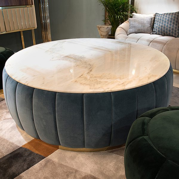 Velvet Marble Coffee Table โต๊ะกลางกำมะหยี่ท็อปหินอ่อน