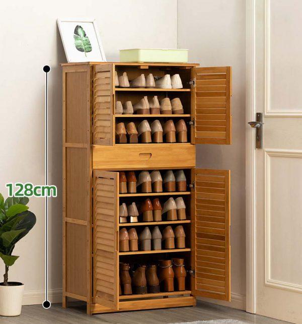 A Bamboo Shoes Storage ตู้ไม่ไผ่สำหรับเก็บรองเท้า