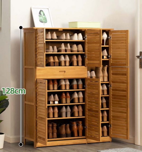 Bamboo Shoes Storage ตู้ไม่ไผ่สำหรับเก็บรองเท้า