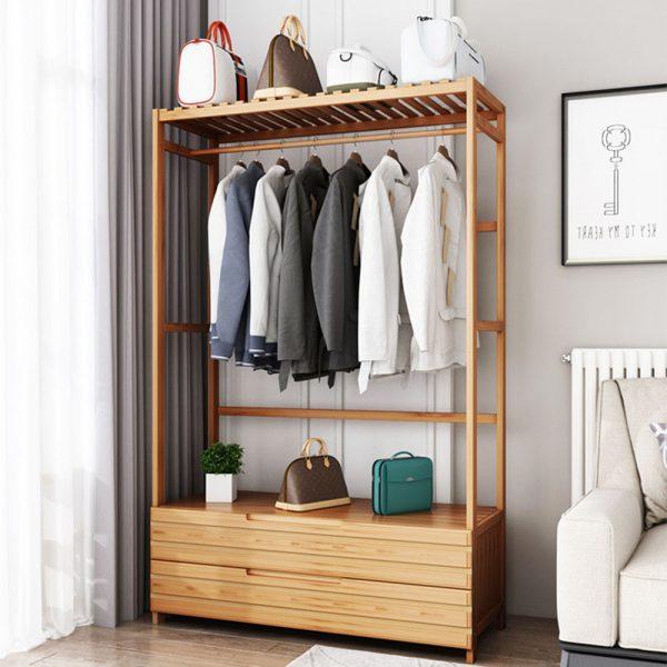 Bamboo Decorative Shelf ชั้นแขวนเสื้อผ้าอเนกประสงค์