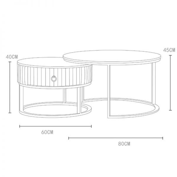 Coffee Table Set with Drawer ชุดโต๊ะกลางพร้อมลิ้นชักเก็บของ ราคาพิเศษ (4)