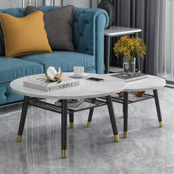 Premium Marble Coffee Table Set IV ชุดโต๊ะกลางท็อปหินอ่อน