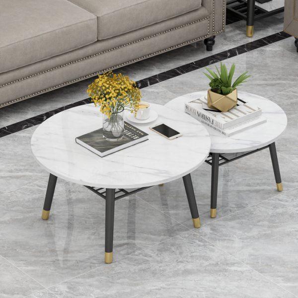Premium Coffee Table Set II ชุดโต๊ะกลางท็อปหินอ่อน