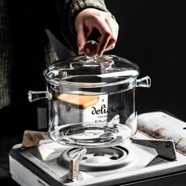 หม้อแก้วทำอาหาร - Cooking Glass Pot